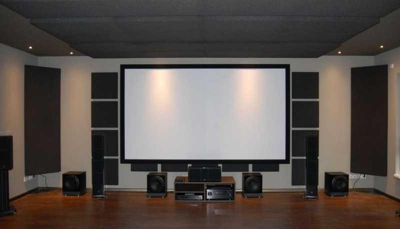 размеры комнаты под дом. кинотеатр